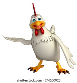 3d rendered illustration of hold Hen cartoon character