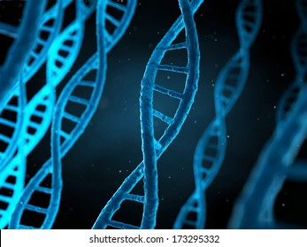 3d rendered illustration of the human genome