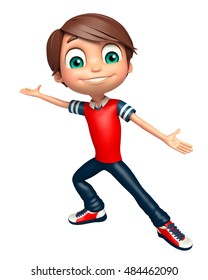3d rendered illustration of Kid boy with Funny pose