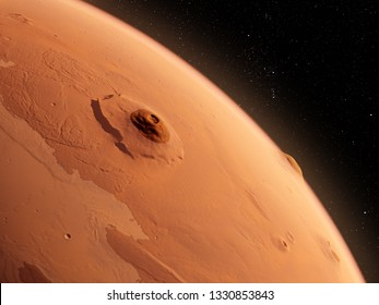 3d rendered illustration of the mars - olympus mons