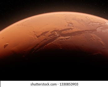 3d rendered illustration of the mars valles marineris