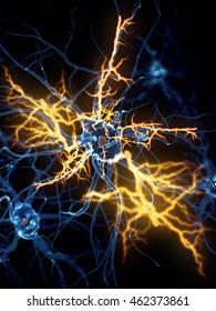 3d rendered illustration of a nerve cell