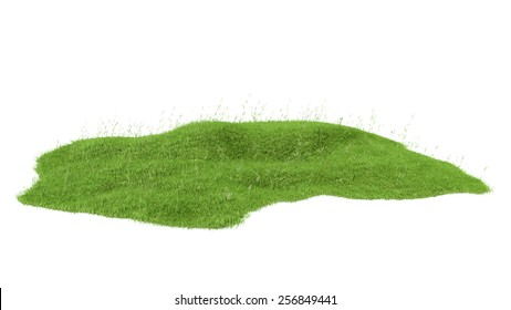 3d rendered illustration of piece of land