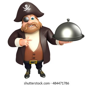 3d rendered illustration of Pirate with Cloche