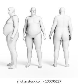 3d rendered illustration of some overweight men