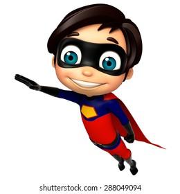 3d rendered illustration of superboy