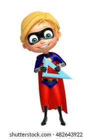 3d rendered illustration of Superboy with Compass