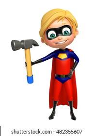 3d rendered illustration of Superboy with Hammer