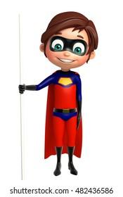 3d rendered illustration of Superboy with Standing pose