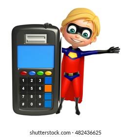 3d rendered illustration of Superboy with Swap machine