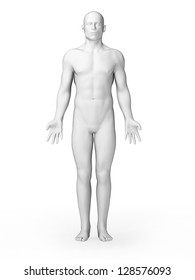 3d rendered illustration - white male