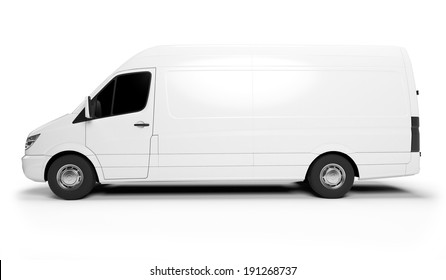 3d rendered illustration of a white transporter