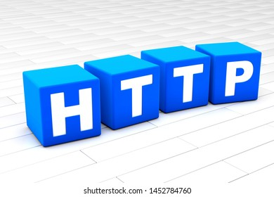 3D rendered illustration of the word HTTP.