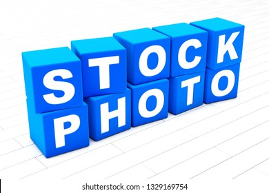3D rendered illustration of the words Stock Photo.