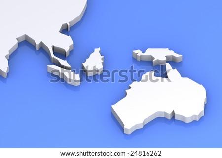 Map Of Australia Japan.3 D Rendered Image Map Australia Japan Stock Illustration 24816262