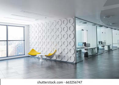 3D rendered office space