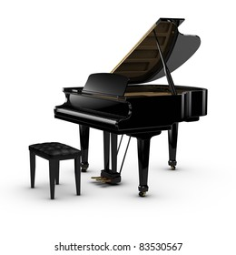 3D rendered piano.