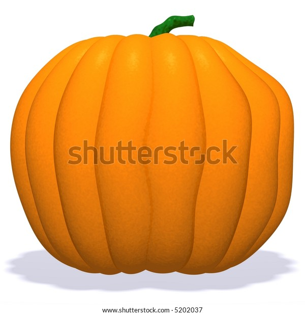 3D rendered pumpkin isolated on white