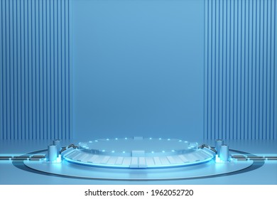 3D rendered sci-fi lighting booth