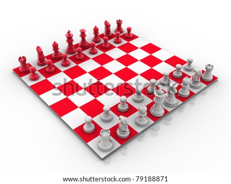 Royalty Free Stock Illustration Of 3 D Rendered Set Chess