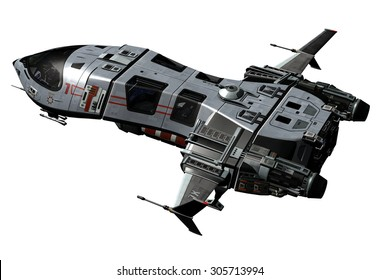 3D rendered Spaceship