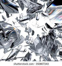 3d rendered sparkling diamond refraction background