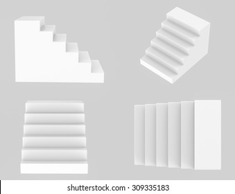 3d rendered stairs