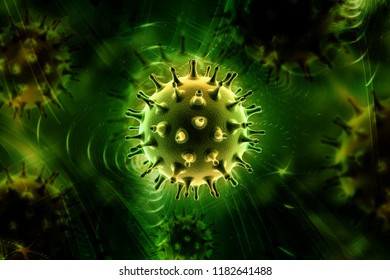 3d rendered Virus isolated on white background