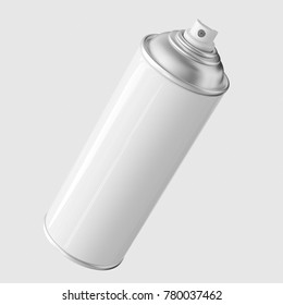 3d rendered White Aerosol Spray Can on a light background for easy isolation and compositing.