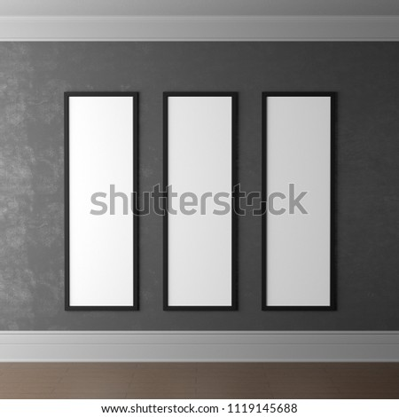 3 D Rendering 3 Different Empty Frames Stock Illustration 1119145688 ...