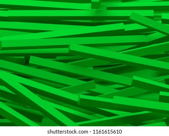 3D rendering abstract background. Illustration of green geometric stones