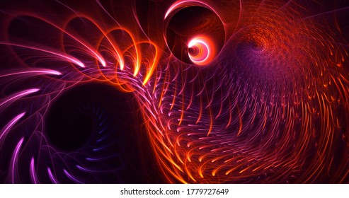 3D rendering abstract colorful fractal light background