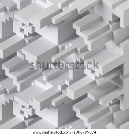 3d rendering abstract cube