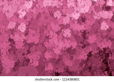 3d rendering of abstract impasto style flowers in elderly pink color