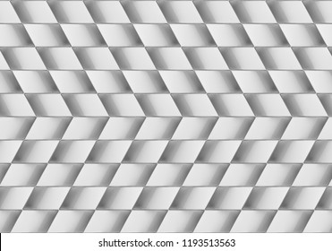 3d rendering. Abstract modern gray trapezoid pattern ceramic wall background.