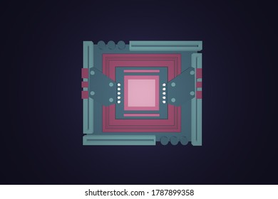 3D rendering abstract motherboard illustration