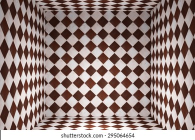 3d rendering of an abstract tiles cube background