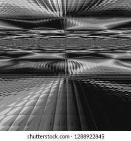3D rendering of abstraction of a silver background