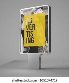 3d rendering of  advertising bilboard