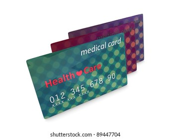 3d rendering, artist illustration medical card, isolated on white.