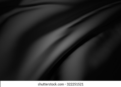 3d rendering of a background of a black silk