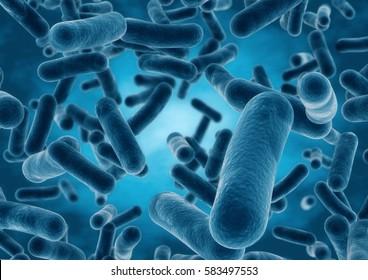 3D rendering Bacteria closeup