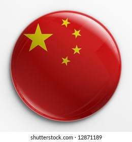 3d rendering of a badge with the Chinese  flag