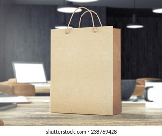 3d rendering of bag on table