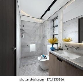 3D rendering of a Bathroom interior