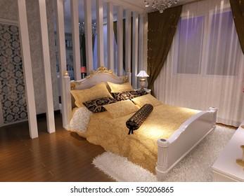 3d rendering bed room,so comfortable.