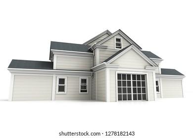 3D rendering of big beautiful house