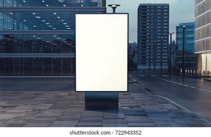 3d rendering of billboard blank for outdoor advertising
