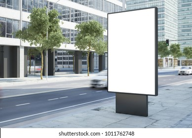 3d rendering of billboard mockup