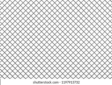 3d rendering. black metal chain wired mesh with clipping path isolated on white background.